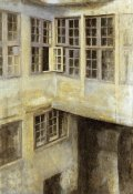 Vilhelm Hammershoi - The Courtyard at 30 Strandgade