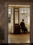 Carl Holsoe - A Lady In An Interior