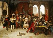 Adolphe Alexander Lesrel - Musketeers of The King