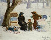 George Luks - Nursemaids, High Bridge Park