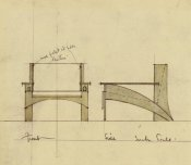Charles Rennie Mackintosh - Design For Armchair In Oak