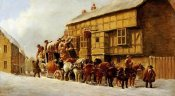John Charles Maggs - Outside The George Inn, Winter
