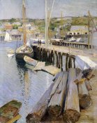 Willard Leroy Metcalf - Fish Wharves - Gloucester
