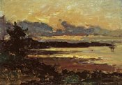 Willard Leroy Metcalf - Sunset at Manchester, Massachusetts