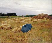Charles Sprague Pearce - The Blue Umbrella