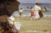 Edward Henry Potthast - The Beach Umbrella