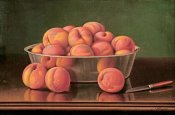 Levi Wells Prentice - Still Life of Peaches In a Silver Bowl