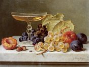 Emilie Preyer - A Glass of Champagne and Grapes