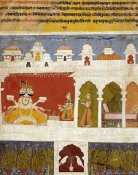 Khambavati Ragini - A Lady on a Terrace Offers The Ancient Vedic Ritual Sacrifice To Brahma