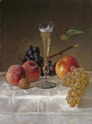 Milne Ramsay - Still Life With Glass of Champagne
