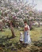 Theodore Robinson - Promenade Among The Blossoms