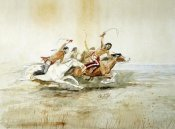 Charles M. Russell - Indian Horse Race No.4