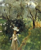 John Singer Sargent - Gathering Flowers at Twilight