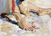 John Singer Sargent - Feet of an Arab, Tiberias