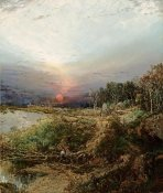 William Louis Sonntag - Sunset on The Maine Coast