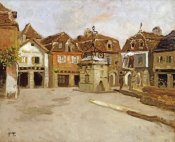 Frits Thaulow - A Town Square