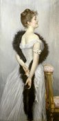 James Jacques Tissot - Portrait of The Vicomtesse De Montmorand