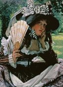 James Jacques Tissot - Girl With a Fan