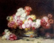 Achille Zo - Chrysanthemum and Other Flowers In a Bowl