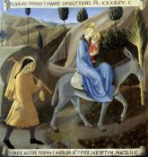 Fra Angelico - Story of The Life of Christ The Flight To Egypt