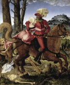 Hans Baldung Grien - Knight Young Girl and Death