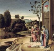 Giovanni Bellini - Birth of Jesus from the Pala Pesaro