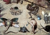 Hieronymus Bosch - Temptation of St. Anthony - Detail
