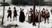 George Henry Boughton - Pilgrims Going To Church