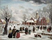 J. van der Bowlen - Winter Life In Holland