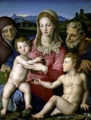 Agnolo Bronzino - Family with Saint Anne and John the Baptist as a Child