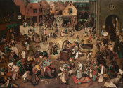 Pieter Bruegel the Elder - The Fight Between Carnival and Lent