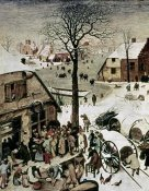 Pieter Bruegel the Elder - Census at Bethlehem - Detail
