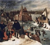 Pieter Bruegel the Younger - Winter Landscape #3