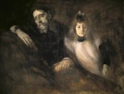 Eugene Carriere - Alphonse Daudet and His Daughter
