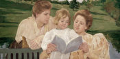 Mary Cassatt - Family Group Reading