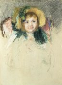 Mary Cassatt - Sara in a Bonnet with a Plum Hanging Down