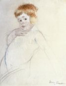 Mary Cassatt - Study of the Baby for The Caress