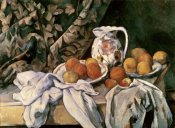 Paul Cezanne - Curtain, Carafe & Fruit