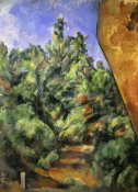 Paul Cezanne - The Red Rock (Le Rocher Rouge)
