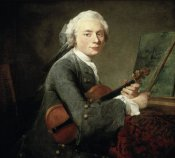 Jean-Baptiste-Siméon  Chardin - Young Man With a Violin