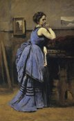 Jean-Baptiste-Camille Corot - Woman In Blue