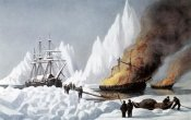 Currier and Ives - American Whalers Crushed In The Ice