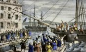 Currier and Ives - Destruction of Tea at Boston Harbor