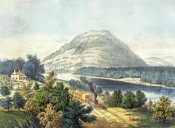 Currier and Ives - Lookout Mountain, Tennessee and The Chattanooga Railroad