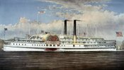 Currier and Ives - People's Line - Hudson River, The Palace Steamers of The World