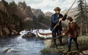 Currier and Ives - Salmon Fishing