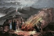 Currier and Ives - Signal Fires On The Slievenamon Mountains