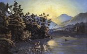 Currier and Ives - Sunrise On Lake Saranac