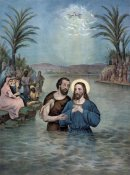 Currier and Ives - The Baptism of Christ