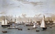 Currier and Ives - Yacht Squadron (Newport)